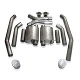 2004 Pontiac GTO Catback Exhaust: Turbo Chambered/Oval Tip, Stainless Works
