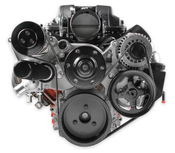 Holley LSx Premium Mid-Mount Accessory System w/ SD7 AC Compressor - Hawks Third Generation