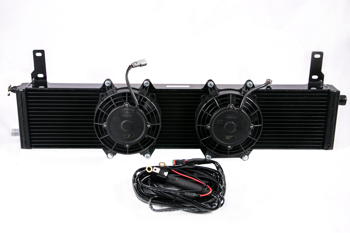 Universal Supercharger Heat Exchanger W Fans Plug Play Wiring Cobra Harness Image 1