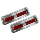 1967-1968 Camaro Billet Aluminum Taillight Bezels with LED's