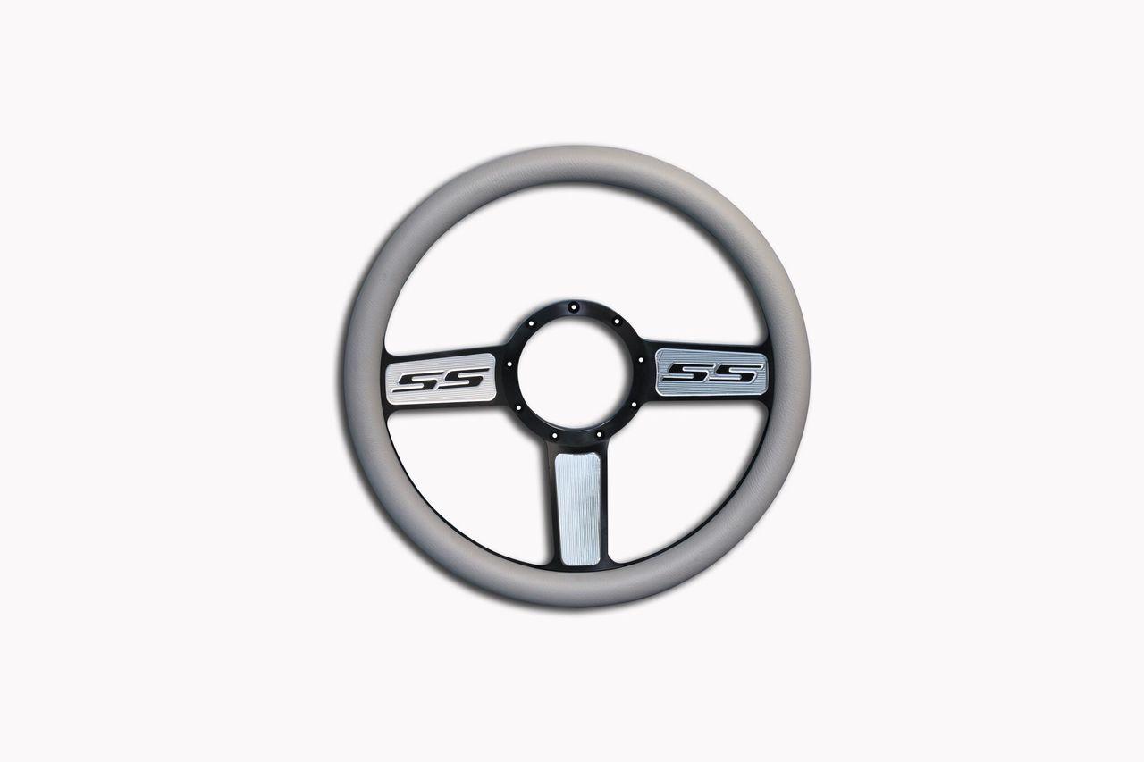 Camaro SS Billet Steering Wheel Black Highlight Spokes