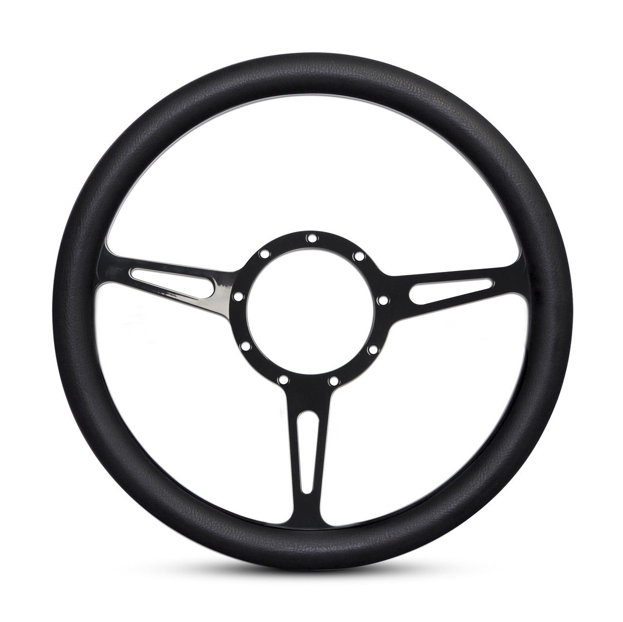 classic billet steering wheel matte black spokes hawks third Plymouth Barracuda image 1
