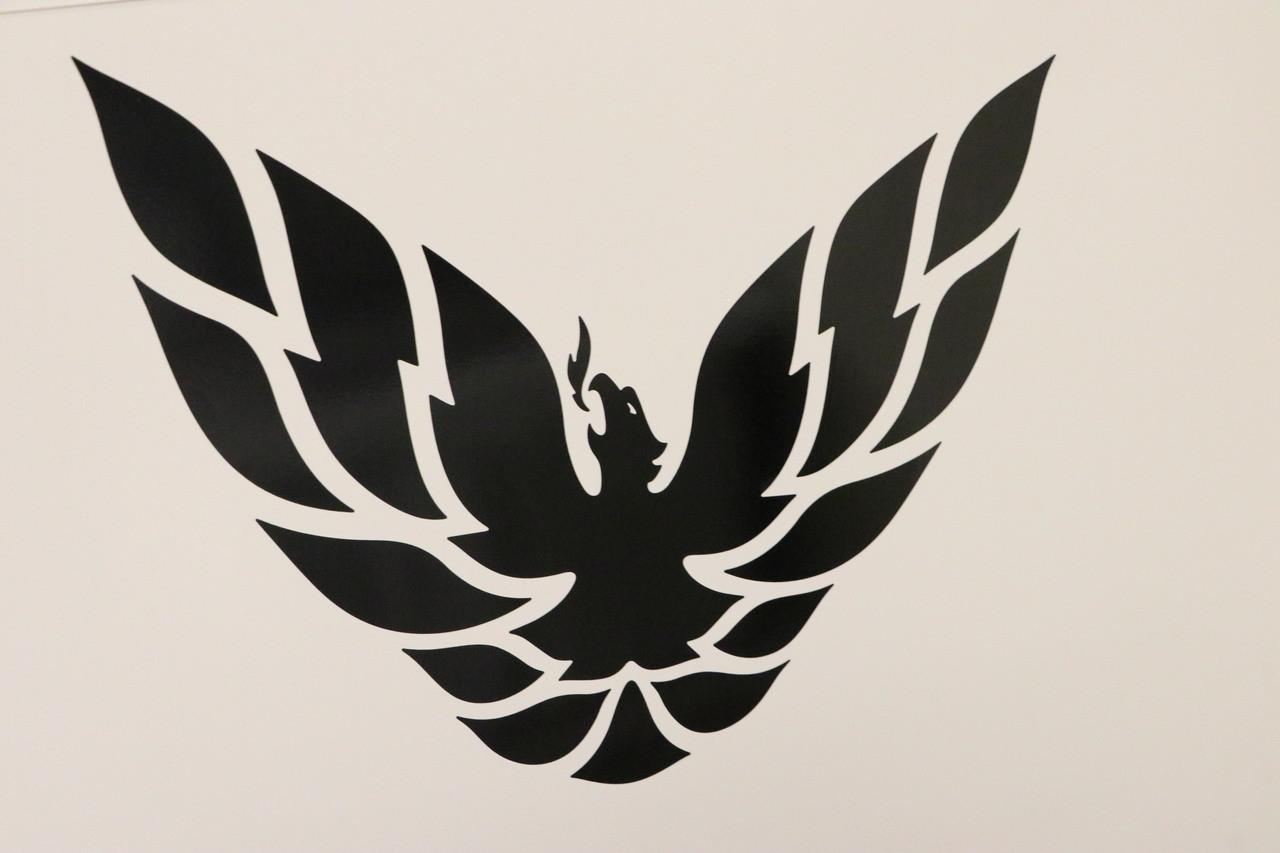 Phoenix bird decal 14x11 black image 1