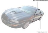 Hard Top, 93-2002 Camaro / Firebird Coupe Door Weatherstripping, Pair Aftermarket