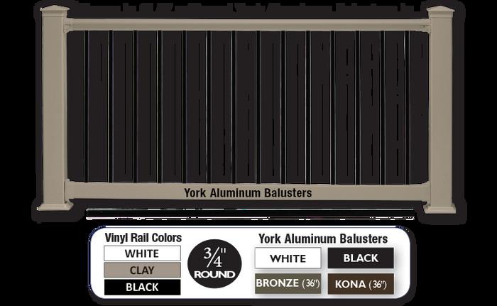 200 York Railing / Clay