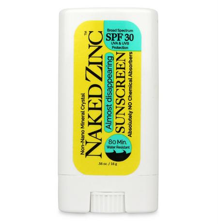 naked zinc  sun stick spf 30, organic