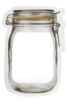 zipper mason jar bag - small