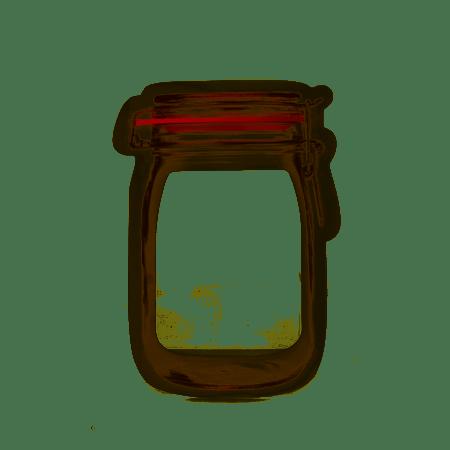 zipper mason jar bag - medium