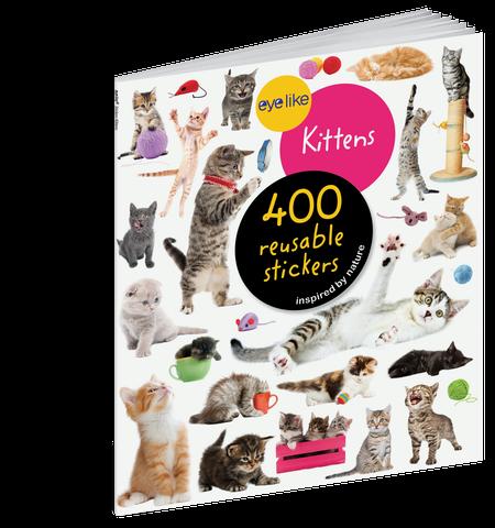 eyelike stickers: kittens, front