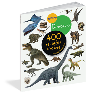 eyelike stickers: dinosaurs, front