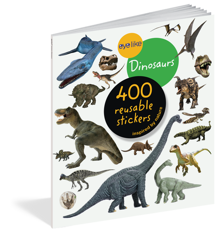 eyelike stickers: dinosaurs, front
