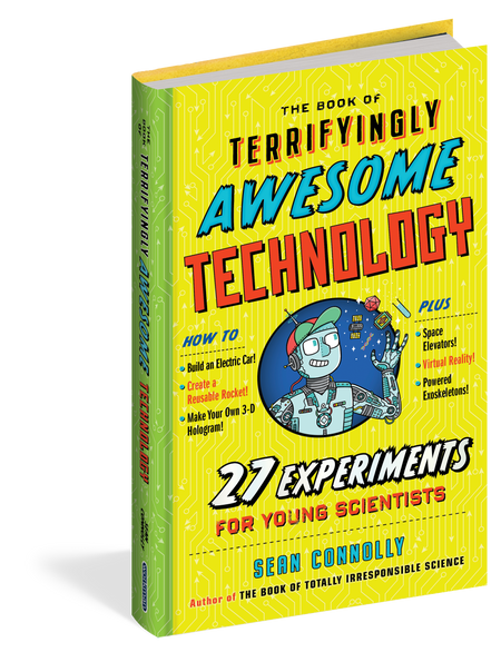 the book of terrifyingly awesome technology, front cover