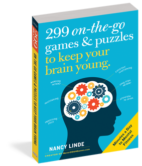 299 on-the-go games and puzzles, front cover
