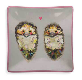 hedgehog love decorative dish