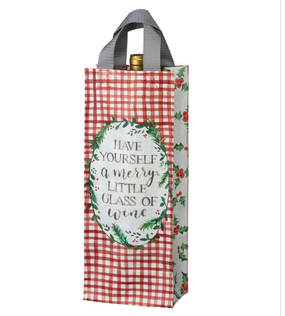 have yourself a merry glass of wine tote