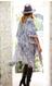 """Teal, kimono, paisley print, mini tassel accent, APPROX. L 39 1/2"""" W 82 1/2"""",  100% Viscose"""