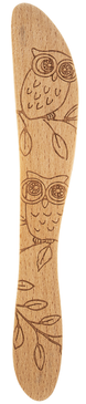 "Owl, wood spreader, knife, butter, jam,  dips, kitchen  Wood 1"" W. x 16"" L."
