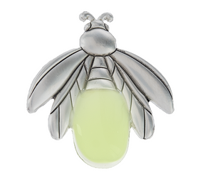 firefly charm, glow in the dark firefly charm, catching fireflies, lucky token