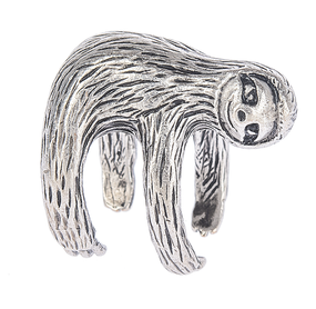 "Sloth, charm, get a grip, take a break, hang out, take a nap, take your time,  chill, silver Dimensions: 1"" H. x 1"" Dia."