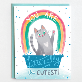 greeting card, cat, cutest, earth friendly