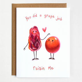 mother's day card, grapes, raisin, raising, great, earth friendly