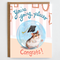 Graduation card, congratulations, going places, earth friendly