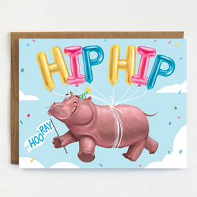 hippo hooray | congratulations
