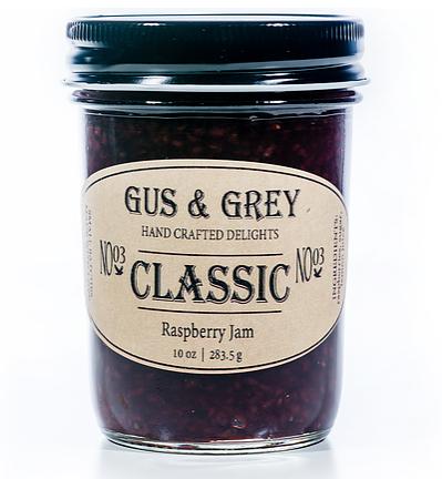 jam, raspberries, cane sugar, handmade