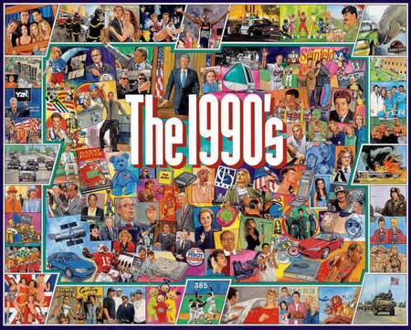 Puzzle, jigsaw, 1990's, '90's, artist Jim Mellett, 1000 pieces, finished size 24 x 30