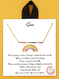 18k gold dipped seven rainbow necklace