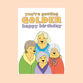 getting golder card , golden girls, humorous