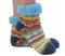 short bright sherpa socks, blue
