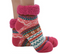 short bright sherpa socks, fuchsia