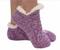 footie sweater sherpa sock, purple