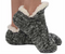 footie sweater sherpa sock, black
