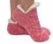 footie sweater sherpa sock, pink