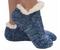 footie sweater sherpa sock, blue