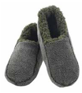 men's sherpa slipper, forest
