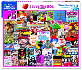 "I love the 80's 1000 piece puzzle, finished size of 24"" x 30"""