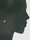semiprecious round split button stud earrings, brown