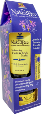 lavender beeswax absolute gift set, lotion, body butter, lip balm
