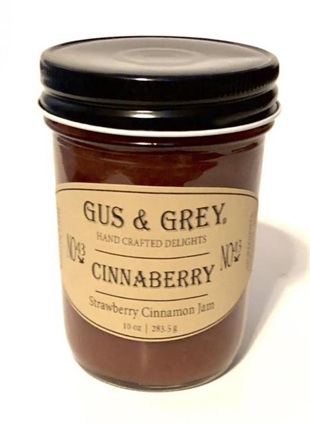 cinnaberry  jam, strawberry, cinnamon