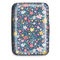 credit card case, navy wildflower
