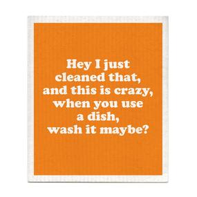 wash it maybe dishcloth