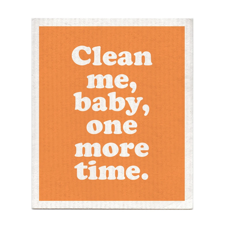 clean me baby dishcloth, Captain and Tennille