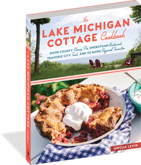 the lake michigan cottage cookbook, front cover