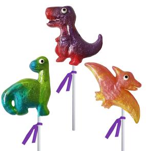 glitter swirl dinosaur lollipops