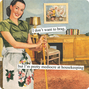 mediocre at housekeeping magnet