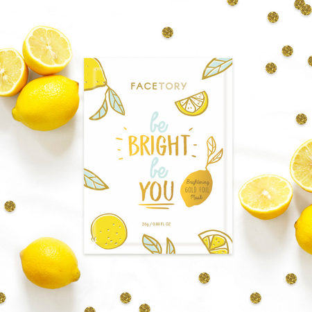 be bright be you gold foil mask