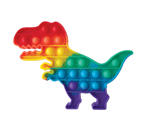 dinosaur rainbow pop fidget
